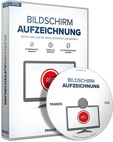 FRANZIS Bildschirmaufzeichnung Software 2018 3 Geräte - Für Videos, Musik und Webinare auf dem Windows PC Disc Disc