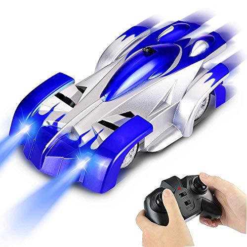 Kaiaki Auto telecomandata, Auto da scalatore Ricaricabile con Auto da Acrobazia Rotante a Doppia modalità, Auto da Corsa RC per Bambini e Adulti,Blue