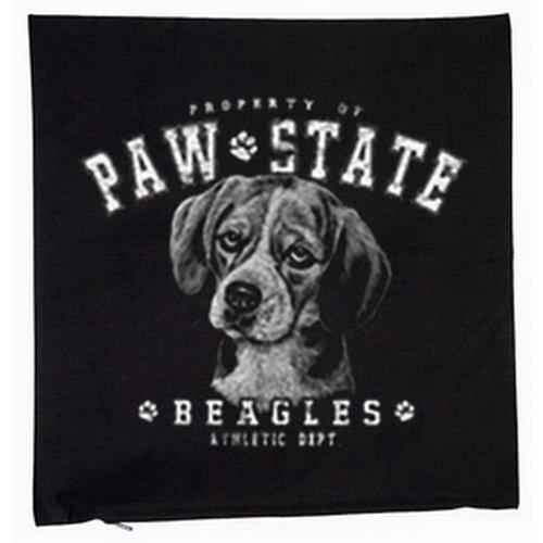 Beagle chiens housse de coussin 40 x 40 cm (noir)