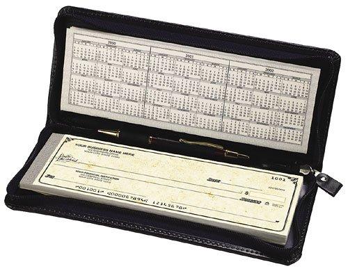 EGP Zippered Portfolio for Traveller Checks, Size: 9 3/4 x 4, Black