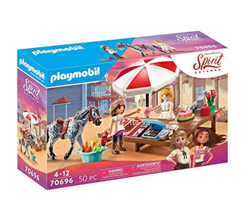 PLAYMOBIL DreamWorks Spirit Untamed 70696 Miradero Süßigkeitenstand, Ab 4 Jahren