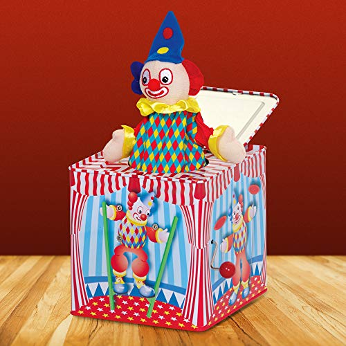 Tobar Jack in The Box, uit een doos springende clown
