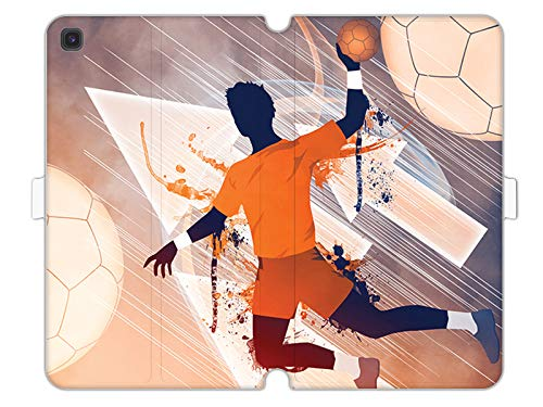 Hülle für Samsung Galaxy Tab S5e - Hülle Wallet Book Fantastic - Handball Handyhülle Schutzhülle Etui Case Cover Tasche für Handy
