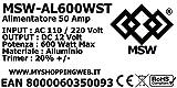 Zoom IMG-2 msw alimentatore 50amp 600w trasformatore
