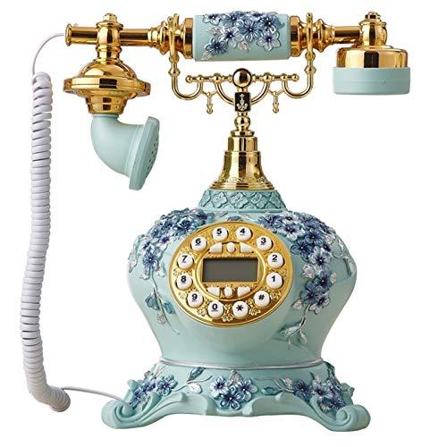 Teléfono creativo decorativo retro Teléfono fijo retro estilo de los años 70 con cordón rizado con cable telefono retro casero accesorio decoración de escritorio con marcador Oficina Regalos / Decorac