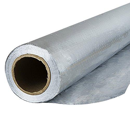 Houseables Radiant Barrier Insulation, Aluminum Foil Roll, 1000 Square Ft. (250 x 4 Feet),...