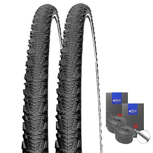 Set: 2 x Schwalbe CX Comp Reflex Cross Reifen 40-622 / 28x1.50 + Schwalbe Schläuche Rennradventil