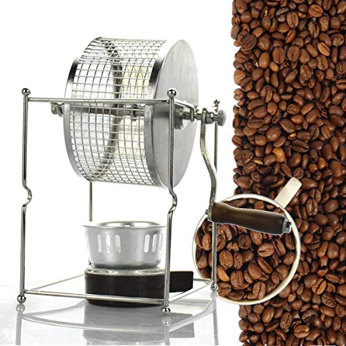 CHIMAKA 304 Manual de acero inoxidable Máquina de tostado de granos de café Tostador de rodillos Panadero Cocina Herramienta para hornear Nuevos accesorios de bricolaje