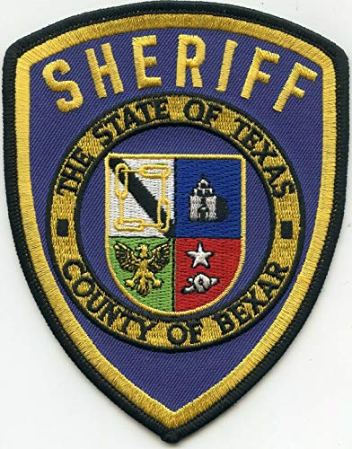 Embroidered Patch - Patches for Women Man - Bexar County Texas TX Blue Background Sheriff Police