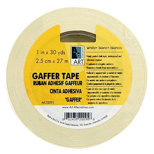 Art Alternatives Gaffer Tape Ruban adhésif en vinyle Blanc 2,5 cm x 30 m