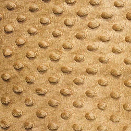 "Tan Minky Dot Cuddle Fabric - Sold by The Yard - 58""/ 60"" -  Fashion Fabrics, 56049295-9CD4-4D52-B535-D809A163B17B"