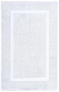 Pinzon Luxury Banded Bath Mat, White (B000OMOHYY) | Amazon price tracker / tracking, Amazon price history charts, Amazon price watches, Amazon price drop alerts