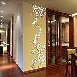 LJQTA Wall Sticker Espejo Pegatinas De Pared Para Los Niños Decoración De La Habitación Círculo 3D Anillo De Acrílico Etiqueta De La Pared Sala De Estar Decoración Para El Hogar Pegatinas Murau