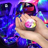 Disco Light for Car USB Light Flashes with Music Sound Activated Multicolor Disco Ball Rechargeable Battery Operated RBG Mini Disco Ball Entertaining Atmosphere for Car Room
