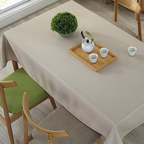 marca blanca Tablecloth - White Table Cover Cloth for Table - Fitted Rectangular Polyester Tablecloth Great for Banquet, 220cm