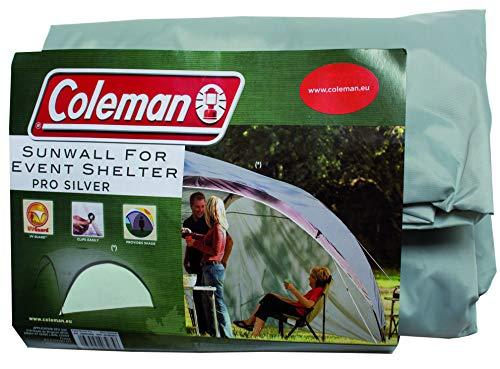 Coleman Paroi latérale Event Shelter XL et Event Shelter Pro XL 4,5 x 4,5 m Pavillon latéral avec Porte et fenêtre, Pare-Soleil, imperméable Paroi latérale/argentée. XL Vert