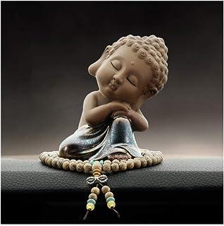 Buddha statue Baby Buddha Statue Purple Clay Monk Figurine Buddha Figurines Car Decor Crafts Dolls Ornaments Gift Delicate...