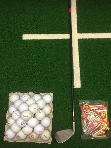 Lakeballs-Diver (Crossgolf - Set XL) Golfschläger (Eisen) + 50 Crossgolfbälle + 50 Holztees, Crossgolf, Golfbälle, Urbangolf (Rechtshand)