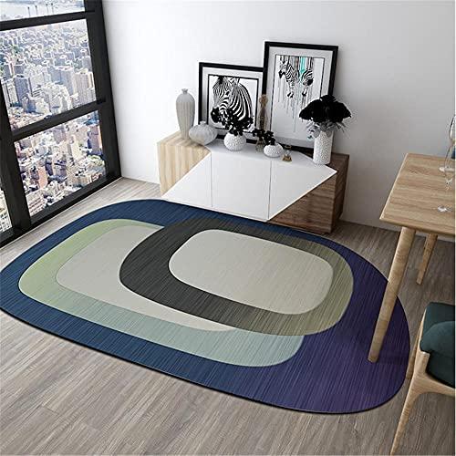 La Alfombra alfombras habitacion Matrimonio Alfombra Suave de patrón geométrico Ovalado Gris...