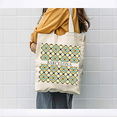 Barcelona Design Bag - Bolsa de diseño de baldosas encáusticas con diseño de Barcelona Hidráulica Baldosa Barcelona Regalo Barcelona Gaudi