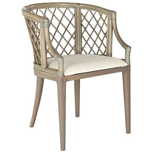 Safavieh Home Collection Carlotta Arm Chair, Griege