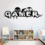 wopiaol Babys Chambre Stickers Muraux Gta5 Mural Mobile Gamer Manger Sommeil Contrôleur de Jeu Jeu Vidéo Mur Garçons Creativ 131X42Cm