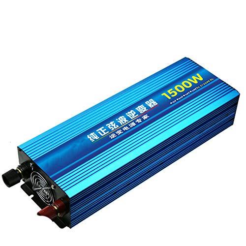 TERMALY 24V tot 220V1500W zuivere sinus omvormer, stroomomvormer, zonne-converter, zomer-alarm-herinnering, beveiliging tegen kortsluiting/hoge temperaturen, enz. A