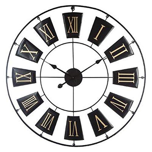 Paris Prix Atmosphera Créateur d'intérieur - Horloge Murale Design Antica 76cm Noir