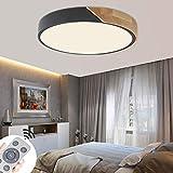 MIWOOHO 60W moderna LED luz de techo lámpara de techo para Dormitorio Cocina Sala de estar Comedor Regulable (3000K-6500K)