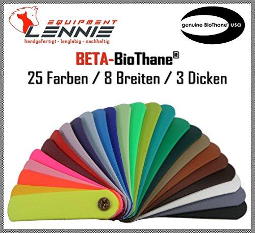 BioThane® Meterware, Beta Super Heavy, 13-50 mm breit, ca. 3,8 mm dick, viele Farben, 13mm, Schwarz