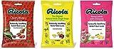 Ricola Cough Suppressant and Throat Drops Bundle – Original Natural Herb (21 Drops), Cherry Honey (24 Drops), and...