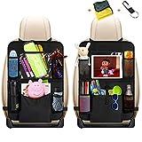Auto Rückenlehnenschutz, Sisleyhome 2 Stück Auto Rücksitz Organizer für Kinder, Große Taschen...