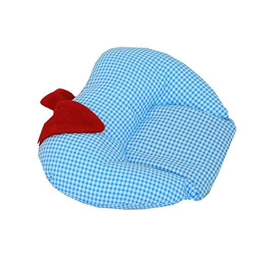 Kouber Industries de moutarde (Rai) Taie d'oreiller – en forme de pomme (Coton), bleu ciel -