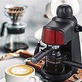 LY88 Kleine Espressomaschine PP Kunststoff Halbautomatisches Dampfkaffeepulver Gewerblicher Haushalt Rot