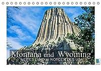 Montana und Wyoming - Weites Land im Norden der USA (Tischkalender 2022 DIN A5 quer): Montana und Wyoming - Zwischen den Great Plains und den Rocky Mountains (Monatskalender, 14 Seiten )