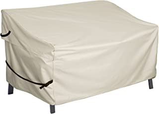 Porch Shield Patio 2 Seater Loveseat Sofa Cover – Waterproof Outdoor Bench Deep Lounge Seat Sofa Covers 56W x 31D x 33H in...