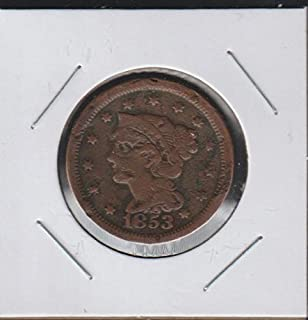 1853 Matron Head Modified (1835-1839) and Braided Hair (1835-1857) Penny Very Fine
