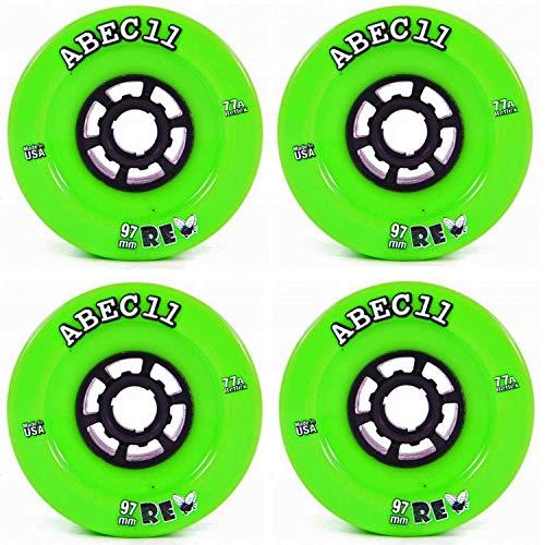 ABEC 11 Refly Flywheels Longboard Rollen 97mm 77a grün