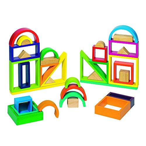 Goki-58655 Puzzles 3DPuzzles 3DGOKIJuego de construcción Arco Iris, Multicolor (58655)