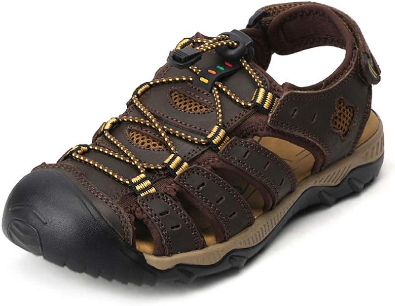 Men's Triple Touch Fastening Sports Closed Toe Beach shoes Walking Trail Sandals Summer Outdoors Waterproof