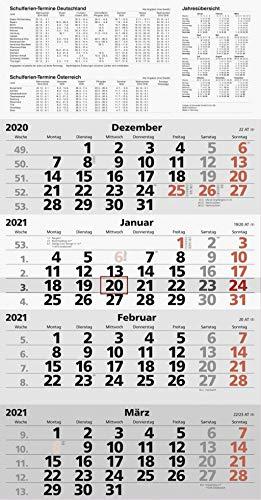 Baier & Schneider & SchneiderViermonats Wandkalender 2021 quattroplan 2, 7033420001