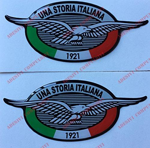 Escudo Logo Decal Moto Guzzi, una Historia Italiana, par Pegatinas resinati, Efecto 3D. para depósito o Casco