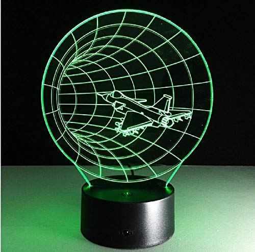 Time Machine 3D Ilusión Visual Lámpara Acrílico Transparente Luz Nocturna Led Teléfono Conexión Bluetooth