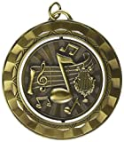 Hammond & Stephens SP330G Music Die Struck Spinner Medal, 2-5/16' Size, 0.13' Height, 2.31' Width, 2.31' Length, Metal, Gold
