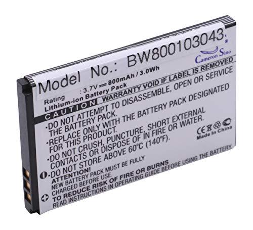 vhbw Li-Ion Akku 800mAh (3.7V) für Handy, Smartphone, Telefon Elson Mobistel EL600, EL600 Dual wie BTY26172, BTY26172Mobistel/STD.