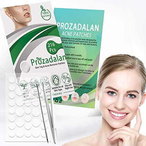 Cerotti per acne, 216 pezzi invisibili idrocolloidi assorbenti per brufoli, trattamenti acne, adesivi per acne, acne, acne, trattamento dell'acne, trattamento dell'acne (216 pezzi)