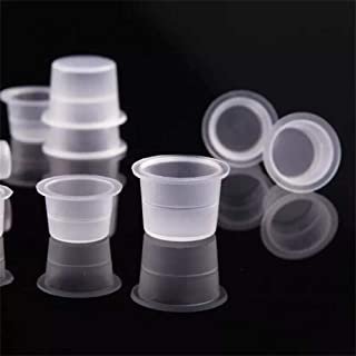 Disposable Tattoo Ink Cups-Small 100pcs Plastic Disposable Tattoo Ink Cups For Tattoo Permanent Makeup Container Cap Tatto...