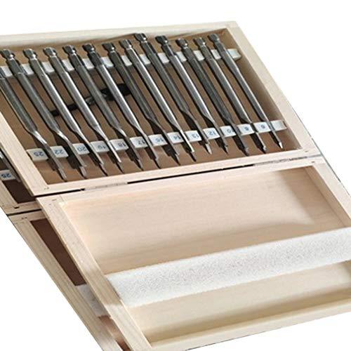 DONGMING 13 PCS Flat Wood Bit Set Steel Woodworking Hole Cutters Tools Accessories