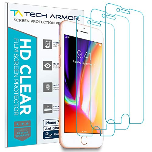 Tech Armor Displayschutz mit Entspiegelung für Apple iPhone SE 2020 / iPhone 7 / iPhone 8 Apple iPhone 7/8 (4.7 inch) - Anti-Fingerabdruck - 3 Stück