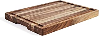 Extra Large Acacia Wood Butcher Block Cutting Board, Chopping Board with Juice Groove - 15.75 x 11.8 x 1.25 inches